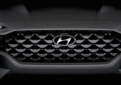 更新的2021现代圣达菲大型SUV的第一张官方图片已经发布