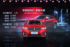 WEY2020款VV5上市,4款车型售价区间12.58万-14.78万元