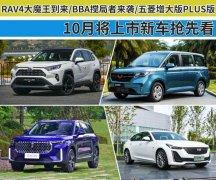 RAV4大魔王到来/BBA搅局者来袭 10月将上市新车抢先看